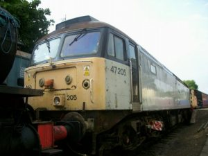 Class 47 No. 47205 during an overhaul at Pitsford & Brampton Station on 3rd June 2007. Photo: Dan Adkins