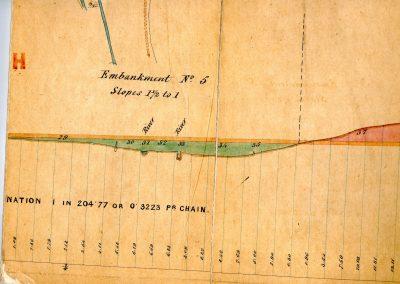 Bridge 11 & southern end of Pitsford Sidings Gradient Profile